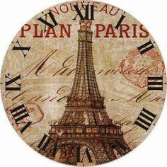 Paris. Eifel Tower clock face
