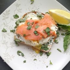 Smoked salmon and eggs toast is a wonderful brunch fusion of the classic lox and cream cheese bagel and eggs benedict.