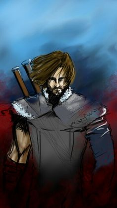 digital paint of a character from the game middle earth shadow of mordor..