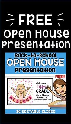 The free Bitmoji Back to School Open House Presentation is the perfect way to start planning for your meet the teacher night! The free Bitmoji Back to School Open House Presentation is the perfect way to start planning for your meet the teacher night! Meet The Teacher Template, Curriculum Night, Back To School Night, Middle School, High School, Letter To Teacher, School Opening, Back To School Activities, School Ideas