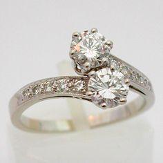 toi et moi Bague or diamants 521 – Toi et Moi – Bagues de fiançailles