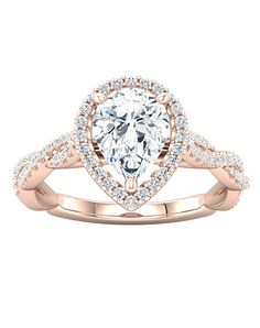 Infinity style halo engagement ring in gold | Ever & Ever 'Mallory' | http://trib.al/ECNI13Y