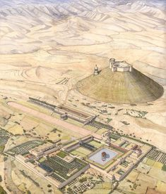 Herodium fortress built by Herod I (the great) Architecture Antique, Historical Architecture, Ancient Rome, Ancient History, Medieval Castle, Medieval Fantasy, Israel History, Village Map, Indus Valley Civilization