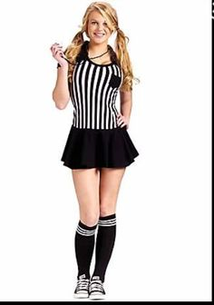 Teen Racy Referee Costume Unleash your inner sports fanatic in the Teen Racy Referee Costume. Boys love sports, it is hardwired in their DNA. From basketbal Tween Halloween Costumes, Cute Costumes, Couple Halloween, Costumes For Women, Costume Ideas, Teen Costumes, Halloween Ideas, Sports Costumes, Halloween Party