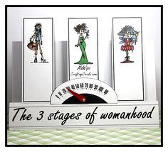 Humorous 3 Column Stepper card featuring Bugaboostamps on a Craftsuprint cut file