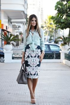 Navy, mint, blush.