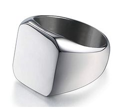 Your place to buy and sell all things handmade Silver Man, Silver Color, Black Rings, Silver Rings, Black Tungsten Rings, Wooden Bow, All Stainless Steel, Beautiful Rings, Rings For Men
