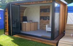 The Wave - Contemporary Garden Rooms - Garden Room, Garden Office, Garden Studio, Garden Gym, Garden Pod, Garden Annex, Outdoor Room, Insulated Garden Building and School Classroom