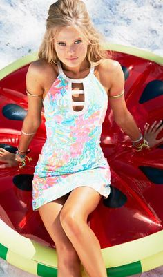 Lilly Pulitzer Kennedy Shift Dress in Resort White Casa Marina.