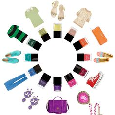 How To Match Your Outfit To Your Nail Color : Lucky Magazine