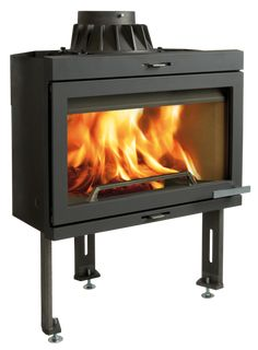 Jøtul I 400 FL: Jøtul I 400 FL is part of the Jøtul I 400 series which consists of three main variants. This is a medium-sized fireplace insert with a modern design it features a large glass for a perfect view of the burning logs. Jøtul F 400 FL has light coloured burn plates that makes the fireplace insert look light and attractive even when you don't have the fire lit. - Fireplaces and inserts - Products   Jøtul