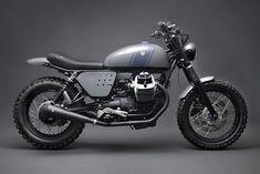 "Moto Guzzi Street Tracker ""Tractor by Venier motorcycles Guzzi Bobber, V9 Bobber, Guzzi V9, Moto Guzzi Motorcycles, Street Scrambler, Scrambler Motorcycle, Motorcycle Style, Bobber Custom, Custom Motorcycles"
