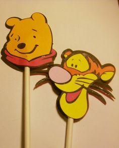 Winnie The Pooh Birthday party Cupcake Cake Toppers by jscrewey,