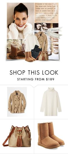 """Winter is Here..."" by angkclaxton ❤ liked on Polyvore featuring Lands' End, Tory Burch, Abercrombie & Fitch, MICHAEL Michael Kors and UGG"