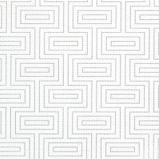 Papier peint - Thibaut - Broadway - Metallic Silver on White