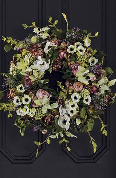 Our French Blooms Wreath is so beautiful, it's as if hydrangea, buttercups, morning glories and poppies were gathered from the sun-drenched French countryside to make it.