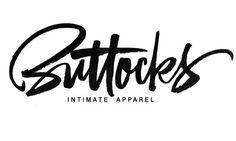 Buttocks, brush lettering logo. on Behance