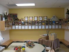 Reggio Cubby area...visit this blog to see the transformation of a Kindergarten classroom into a reggio inspired space...INCREDIBLE!