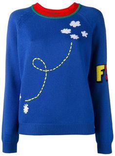 Mira Mikati rocket intarsia knit jumper