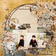 enjoy the moments Scrapbook Page Layouts, Scrapbook Pages, Scrapbooking Ideas, Project Life, Vintage World Maps, Gallery Wall, In This Moment, Frame, Projects