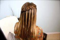 DIY Dutch Waterfall Braid Video Tutorial {5 minutes} | Popular Hairstyles
