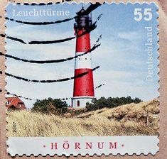 Vuurtoren postzegels beautiful stamp Germany 55c Hörnum lighthouse Hoernum…