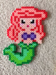 Ariel perler beads by Amy Johnson Castro