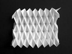 v pleat origami Origami Lamp, Fabric Origami, Origami Paper, Paper Folding Techniques, Paper Art, Paper Crafts, Paul Jackson, Origami Patterns, Origami Envelope