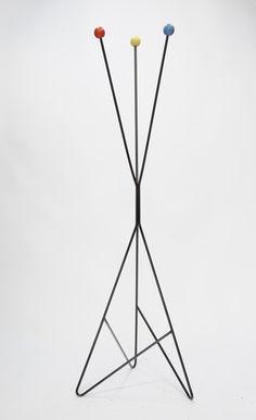 Wonderful Coat Rack in the Manner of Greta Magnusson Grossman at 1stdibs