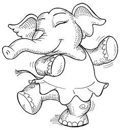 Swinging elephant