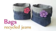 Come si fa - Video tutorial creativi dal web: Come fare contenitori portatutto con i jeans ricic...