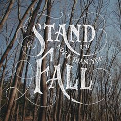 Stand by Nicolas Fredrickson #typography