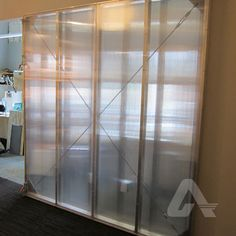 Provide natural daylight to interior spaces and privacy with a polycarbonate wall partition.