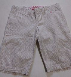 Old Navy Prep juniors/girls 100% cotton plaid capris  shorts size 0