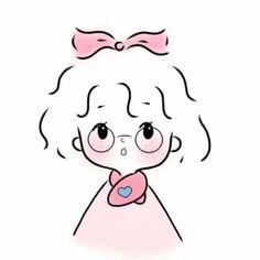 Cute Little Drawings, Cute Girl Drawing, Cool Art Drawings, Easy Drawings, Cute Sketches, Cartoon Sketches, Cartoon Art Styles, Kawaii Doodles, Cute Doodles