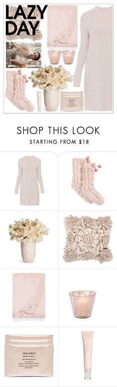 """""""lazy day"""" by gretapom ❤ liked on Polyvore featuring 'S MaxMara, UGG, Artisan Weaver, Shiseido and Bliss"""