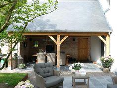 Aanbouw Garden Deco, Facade, Sweet Home, Patio, Outdoor Decor, House, Van, Home Decor, Gardens