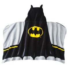 Hooded batman towel for Luke's new superhero bathroom