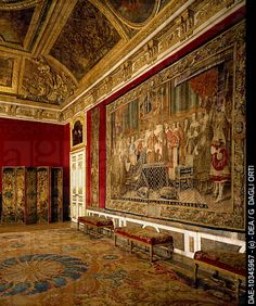Queen´s antechamber or grand couvert salon, Palace of Versailles UNESCO World Heritage . France, 17th century.