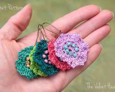 Crochet Earring Pattern, Beaded Jewelry Tutorial (31)