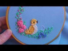 Hand Embroidery: Beginner Stitches (Border Stitch and more) by nakshi katha. - YouTube