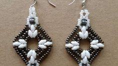 seed bead earrings - YouTube