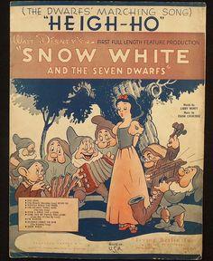 Heigh Ho Walt Disney 1937 Snow White and Seven Dwarfs by tonyc951