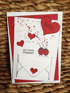 Stempellicht: Geldkarte zur Hochzeit