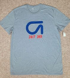 New$30 GapFit GDry GAP FIT DRY 24/7/365 TEE Athletic Cotton/Polyester Top MEN XL #GAP #GraphicTee