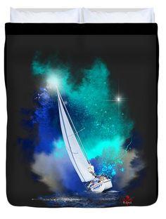 Adrift Duvet Cover by Barbara Hebert