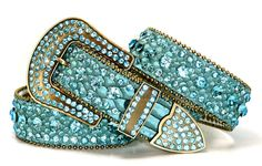 B CoWgiRL WeStErN SpArKLiNg TuRqUoiSe RhInEsToNe EmBoSsEd LeAtHeR BeLt
