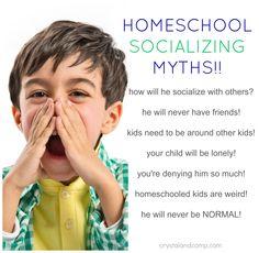 homeschool families and socialization myths
