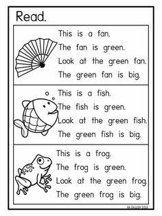 Early reading Kindergarten Reading Activities, Phonics Reading, Teaching Phonics, Kids Reading, Reading Skills, Teaching Reading, Phonics Activities, In Kindergarten, Early Reading