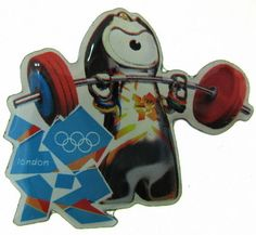2012 London Olympic Mascot Sports Wenlock Weightlifting Pin  | eBay